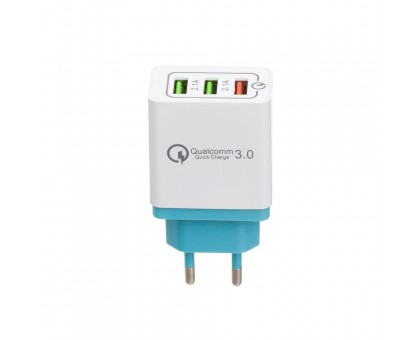 Мережевий Зарядний Пристрій AR-QC3.0 3 USB