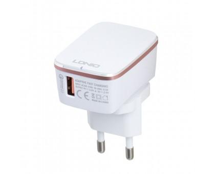 Мережевий Зарядний Пристрій LDNIO A1204Q QC3.0 Lightning