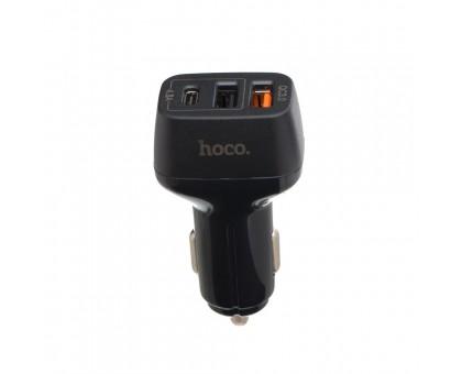 Автозарядка Hoco Z15A QC3.0 2 USB + Type-C Port
