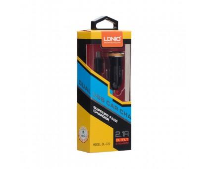 Автозарядка LDNIO DL-C22 Micro