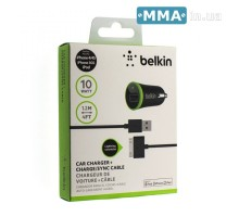 Автозарядка Belkin F8J078 Iphone 4s