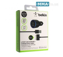 Автозарядка Belkin F8J071 Iphone 4S 2 USB A