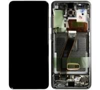 Дисплей Samsung G980F Galaxy S20 тачскрин сенсор черный Amoled оригинал переклеено стекло