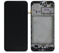 Дисплей Samsung M307F Galaxy M30s тачскрин сенсор черный в рамке OLED копия хорошего качества