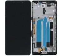 Дисплей Sony i3312 Xperia L3/i3322/i4312/i4332 тачскрин сенсор черный в рамке золотистого оригинал