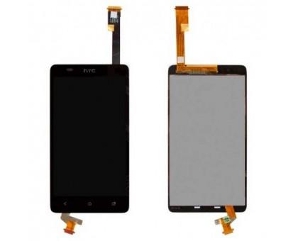 Дисплей для HTC Desire 400 Dual Sim / SU T528w Один + сенсорний екран, чорний