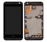 Дисплей для HTC Desire 610 + сенсорний екран, чорний, з передньою панеллю