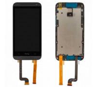 Дисплей для HTC Desire 601/601 + Dual Sim сенсорний екран, чорний, з перед панеллю
