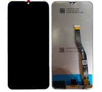Дисплей Samsung M205F Galaxy M20 + тачскрин (сенсор), черный, оригинал , переклеено стекло