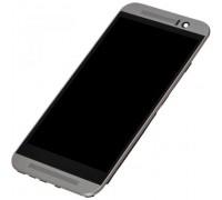 Дисплей для HTC One M9 + сенсорний екран, чорний, з передньою панеллю сірого кольору