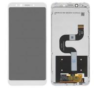 Дисплей Xiaomi Mi A2 /Mi 6x + тачскрин (сенсор), белый, в рамке