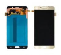 Дисплей Samsung N920C Galaxy Note 5/N920F/N9200 + тачскрин (сенсор), золотистый, Gold Platinum, OLED, копия хорошего качества