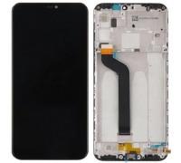 Дисплей Xiaomi Mi A2 Lite /Redmi 6 Pro + тачскрин (сенсор), черный, в рамке, без датчика приближения