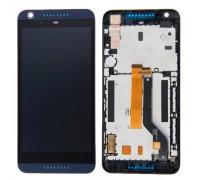 Дисплей для HTC Desire 626G Dual Sim + сенсорний екран. чорний, з передньою панеллю синього кольору