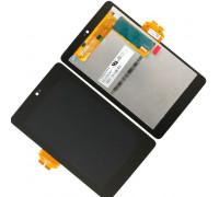 Дисплей для Asus Google Nexus 7 ME370 + сенсорний екран (1 покоління 2012) чорні, з передньою панеллю