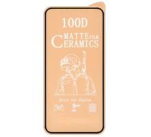 Защитная пленка Ceramics Matte 9D (без упак.) для Apple iPhone 12 Pro Max (6.7