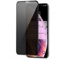 Защитное стекло Privacy 5D (full glue) (тех.пак) для Apple iPhone 11 Pro Max / XS Max (6.5