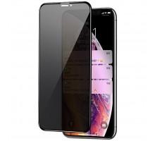 Защитное стекло Privacy 5D Matte (full glue) (тех.пак) для Apple iPhone 11 Pro Max / XS Max (6.5