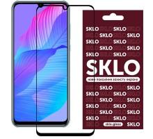 Защитное стекло SKLO 3D (full glue) для Huawei Y8p (2020) / P Smart S